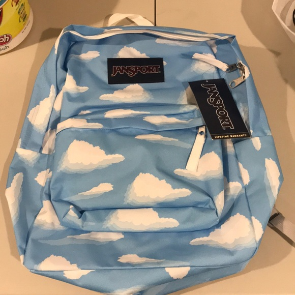 detailed pictures top brands amazon Jansport Superbreak Partly Cloudy Backpack NWT